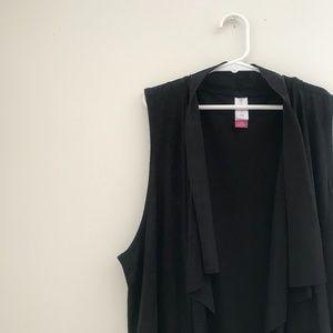 Black Suede Vest With Fringe